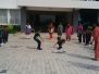 Children and teachers played dog and the bone